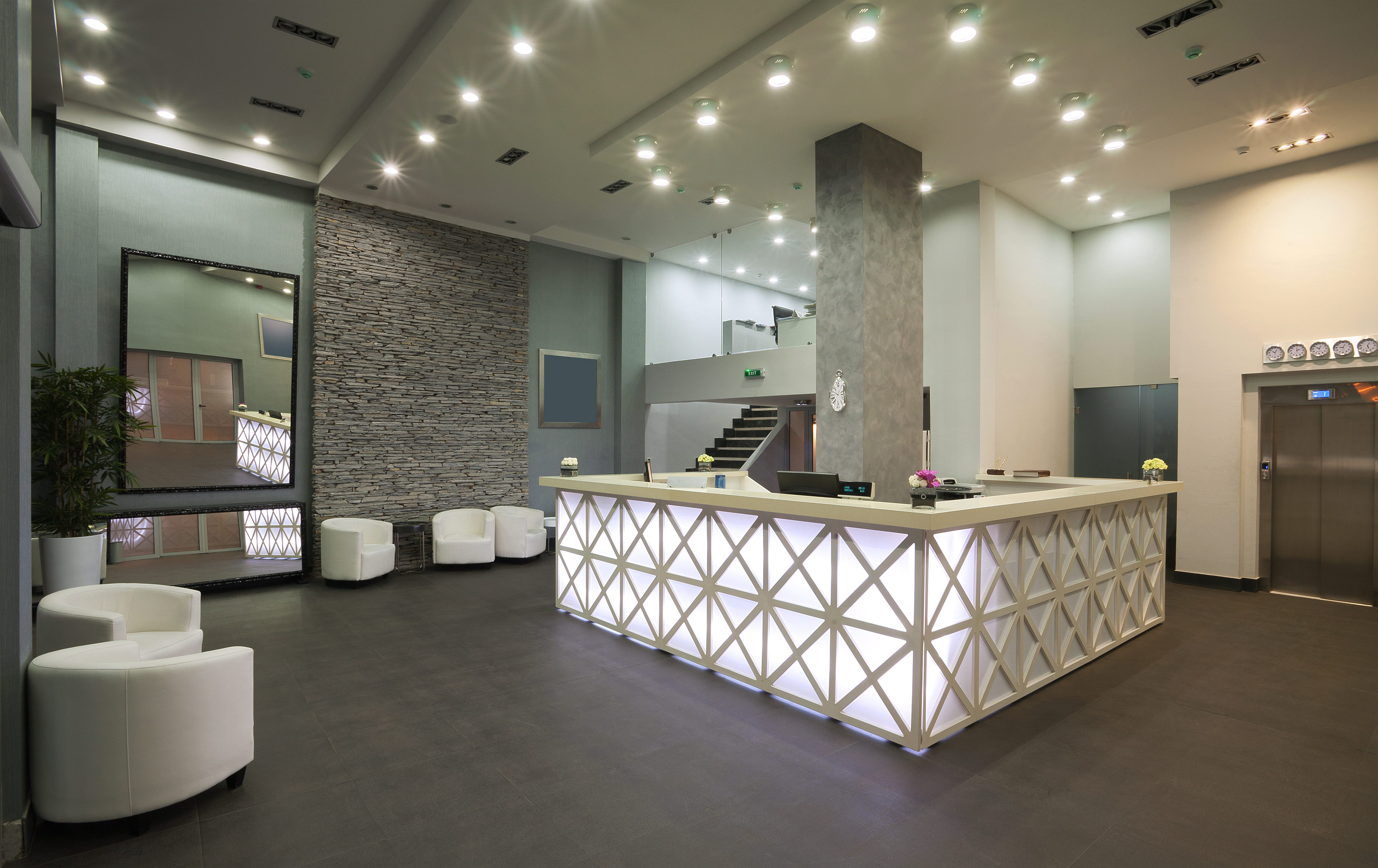 Hotel reception weatherby consulting - Interior design lighting companies ...